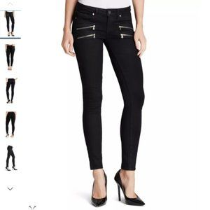 Express Black Stella Double Zippered Ankle Legging